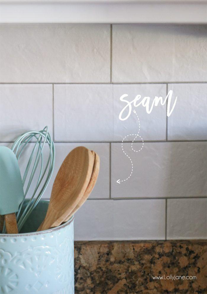Faux Subway Tile Backsplash Wallpaper Ideas For My New