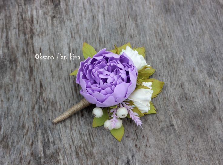 Брошь-бутоньерка с цветами пиона и розы.Каждый цветок уникален, так как выполнен вручную из волшебного материала фоамиран. Цветы не мнутся не ломаются,приятные на ощупь и не боятся воды.