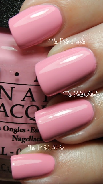 I have way to many pink nail polish colors but i love this. OPI Pink Friday