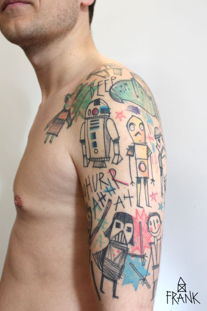 """star wars""-tattoo by miriam frank, munich, germany (farbekracht.wordpress.com)"