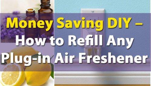Εξοικονόμηση χρημάτων DIY - Πώς να Ξαναγεμίστε Κάθε Plug-in Air αποσμητικό