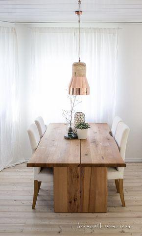 Skandinavische Küche weiß Holz schwarz-12 #LampEsstisch Lamp - küche weiß mit holz