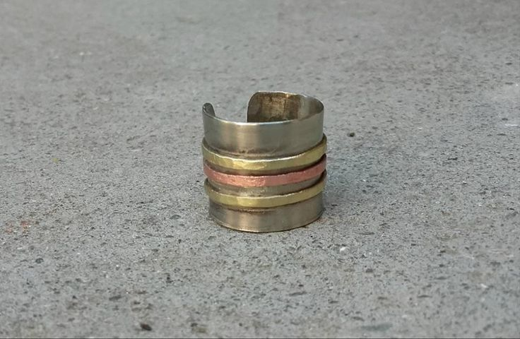 Handmade ring/ silver/ bronze/ copper/ cuff/ minimal/ contemporary jewel/ Greece/ K.ompo.S- Handmade Jewel