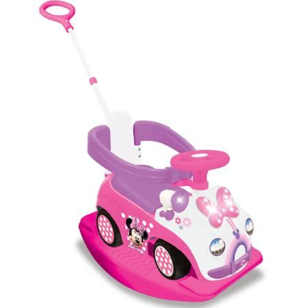 Kiddieland Disney Mickey Mouse Club House Minnie Mouse 4-in-1 Ride-On
