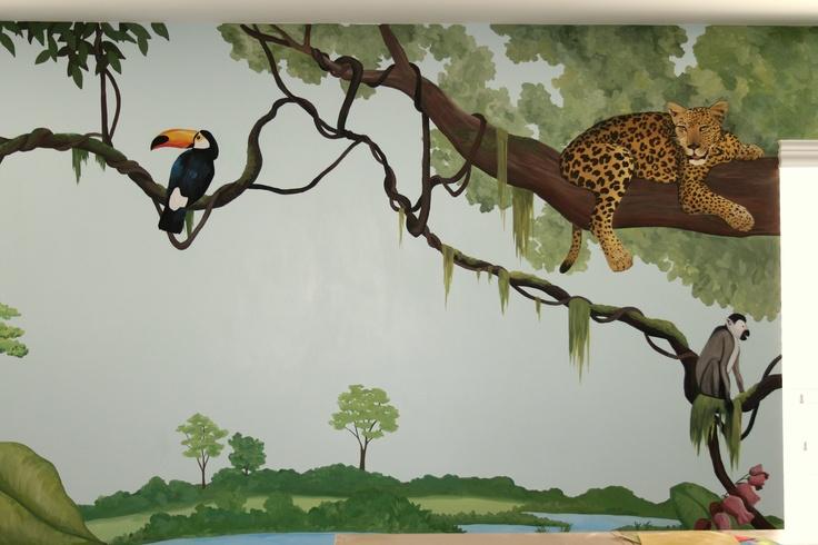 Jungle Mural In A Family S Bonus Room