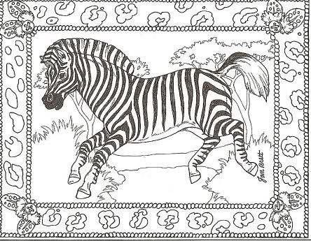 Zebra Peace Sign Coloring Pages 85 best colorin...