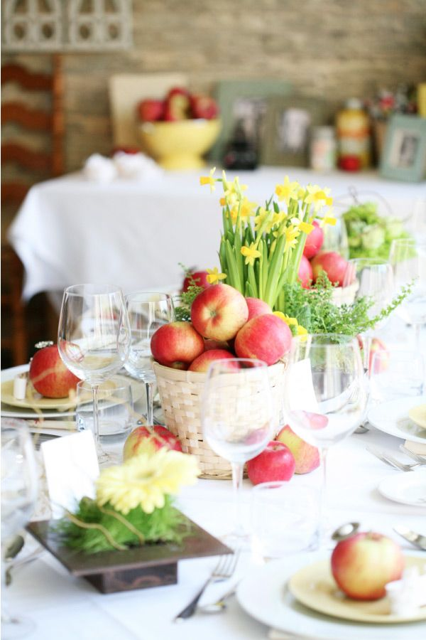 garden picnic centerpiece: Bridal Shower Fall Ideas, Apple Centerpieces, Fall Bridal Shower Ideas, Wedding, Bridal Shower Centerpieces, Ideas Bridalshower, Apples, Flower, Fall Bridal Showers Ideas