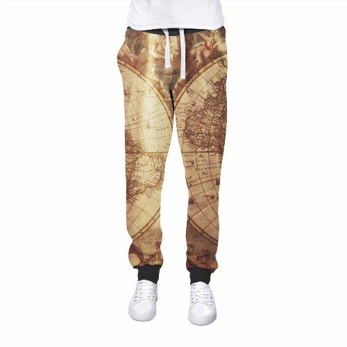 41.99$  Watch here - http://vinyn.justgood.pw/vig/item.php?t=dif1a620840 - Antique Map Globe Womens Jogging Pants