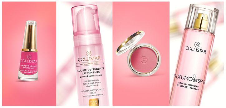 Smalto Gloss® Effetto Gel N.551 Fucsia Spiritosa, Mousse Detergente Illuminante, Maxi Fard Effetto Seta n. 4 Confetto, Profumo dei Sensi #spring #colours #primavera #colori #collistar #pink #rosa #makeup #body