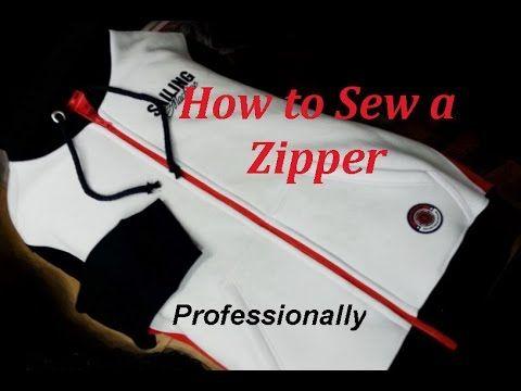 ✂ How  to Sew a Zipper. Sweatshirt.  Sewing Course. ✂ Jak wszyć zamek bł...