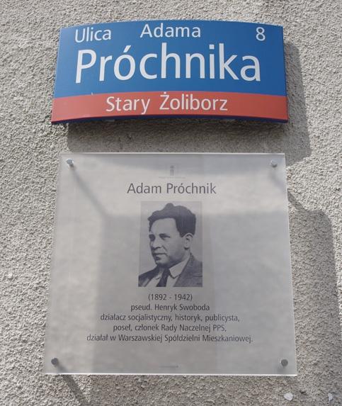 Ulica Adama Próchnika na Starym Żoliborzu w Warszawie.