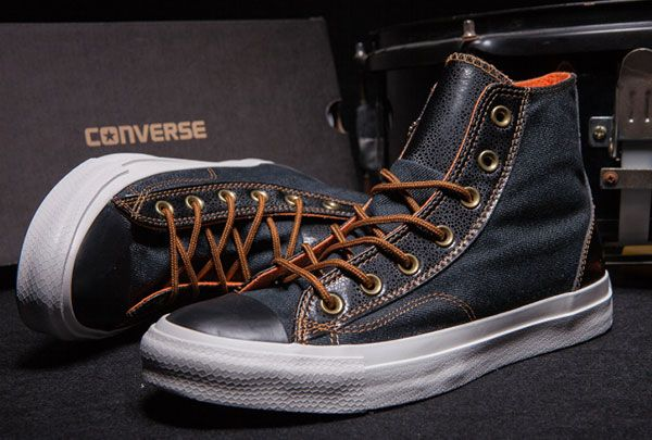 Newest Vampire Diaries Converse EXO Denim Chuck Taylor All Star Black Leather High Sneakers [S503201] - $58.00 : Discount Converse All Star Sneakers Sale,Converse All Star Sandals,Comics and Womens Platform Sneakers
