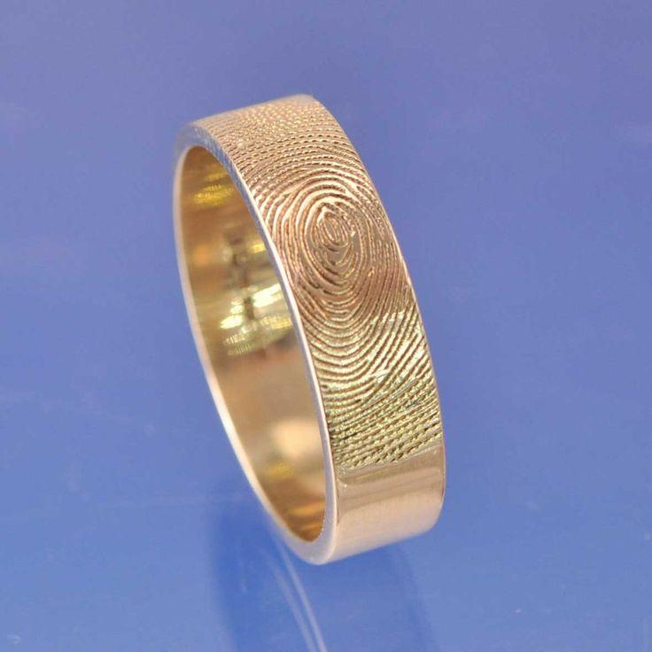 Fingerprint Ring - 18k Gold