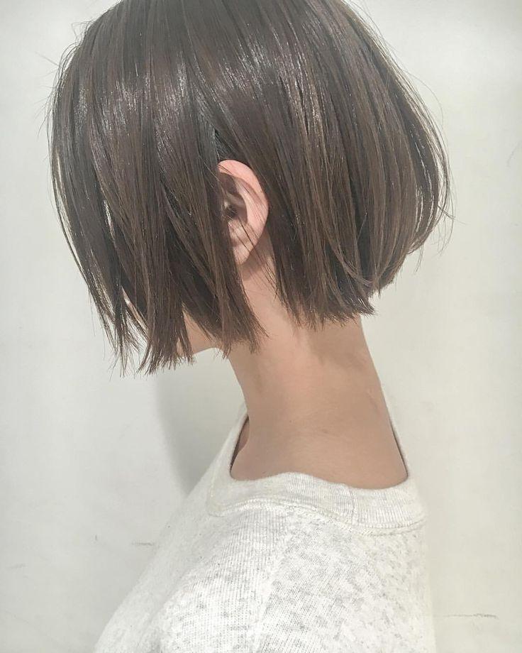 [シンプル] だから [オシャレ] . . そんな、感覚に合わせたヘアデザイン提案します✂︎ . . . #ボブ #切りっぱなしボブ #ショートボブ #洒落感 #抜け感 #大人可愛い