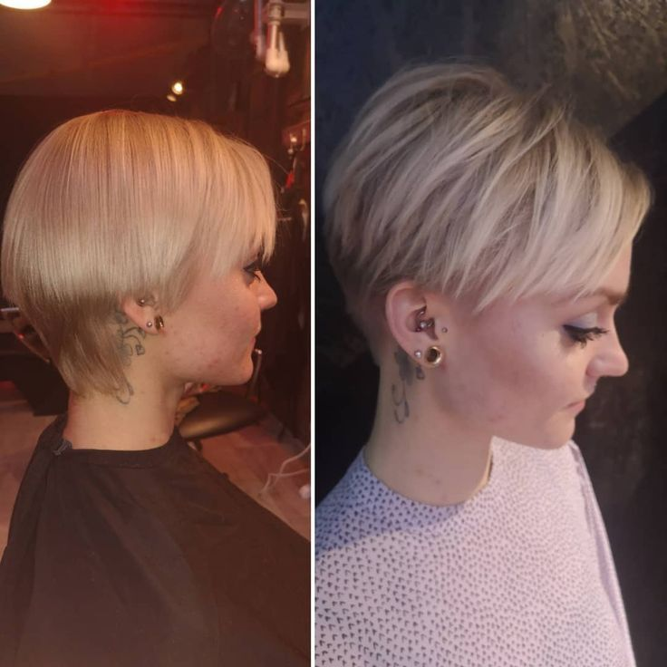 A smart short-haired woman's clip made today by Louise # högh # höghhairstudioan ... - 2019 Short Hairstyles Women, 2018 2019 Women