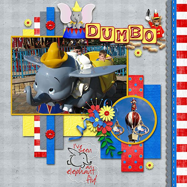 Disney-Dumbo I love the look of this LO!!