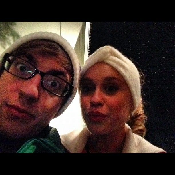 Kevin McHale and Becca Tobin took a glamour shot. Source: Instagram user kevinmchale