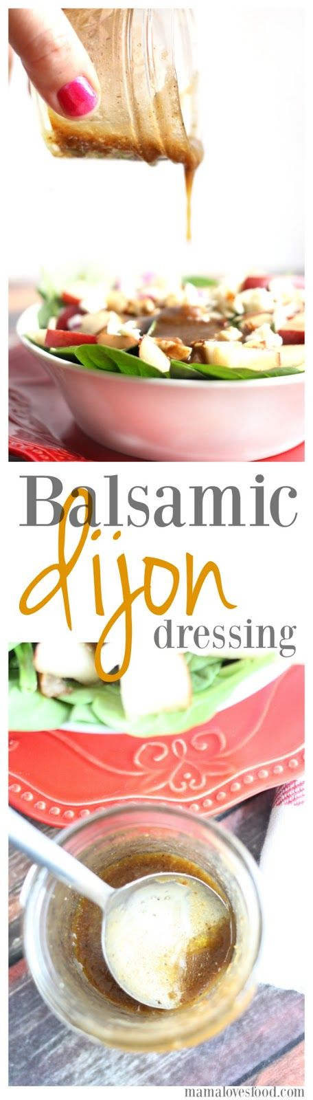 Balsamic Dijon Salad Dressing - only SIX ingredients INCLUDING salt & pepper.  So easy to make and super delicious.  I bet you already have all the ingredients you need :-D