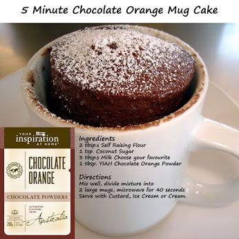 A great simple recipe & you can purchase the Chocolate Orange powder & help support great local organizations. Connect with a Fundraising Partner to find an YIAH consultant that is participating in our fundraising efforts.