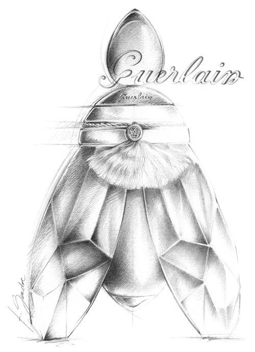 illustration Flacon parfum GUERLAIN Florence Gendre