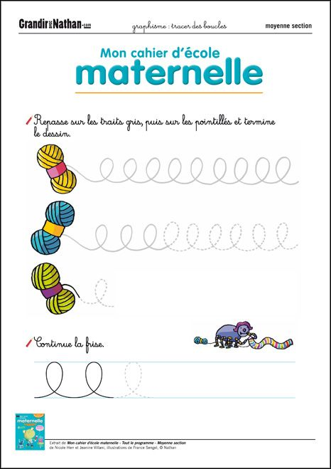 Graphisme - Moyenne Section - Tracer des boucles