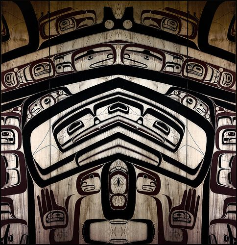 Art Panel housed in the Musuem of Anthropology, UBC ~ West Coast Native Art | Flickr - Photo Sharing!