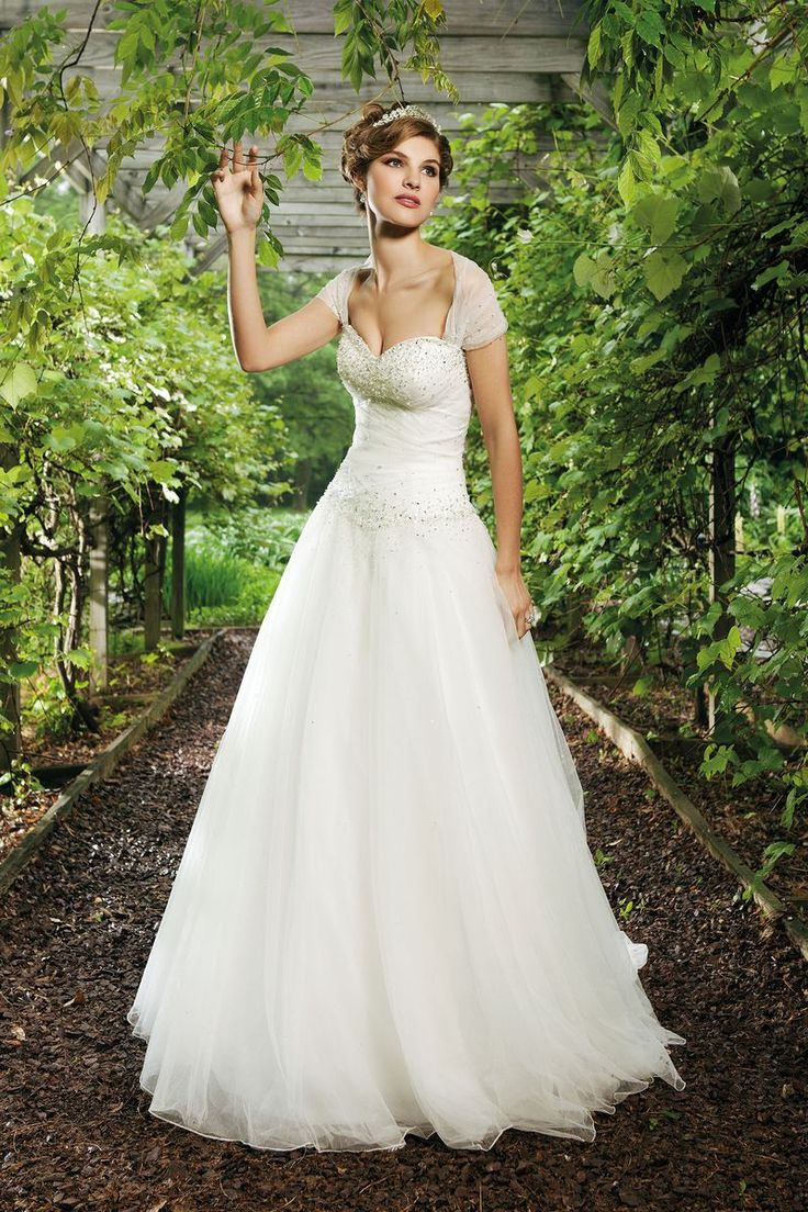 Sincerity Bridal - Style 3621: Tulle Ball Gown with Scatter Beaded Bodice
