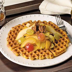 Sweet Potato Waffles - Yummy! #sweetpotatowaffles