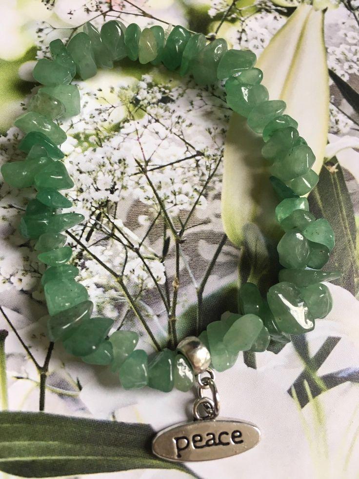 Groene Aventurijn armbandje met bedel.