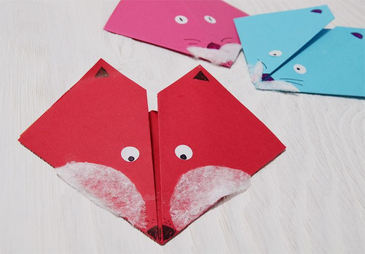 DIY origami fox - so easy! you can use it as bookmark