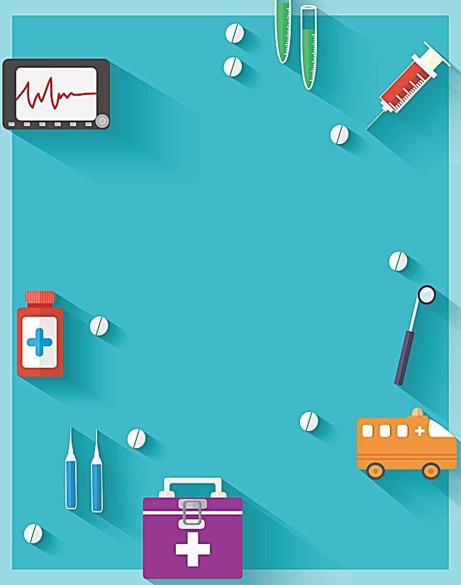 Vector Creative Background Flat Medical Care Desenhos De