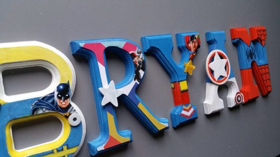 For boys bedroom wooden wall letters. theme by MissiCreation