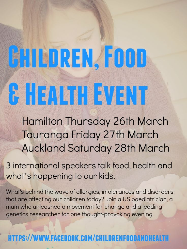If you are struggling with your health or your kids health - Event in Tauranga, Hamilton & Auckland March 2015 with 3 amazing speakers -