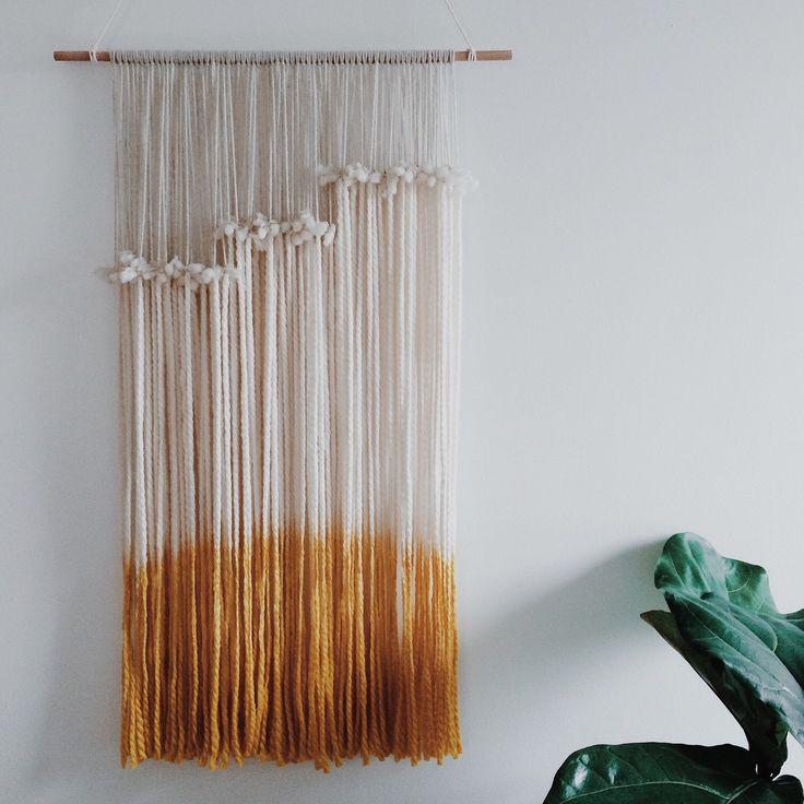 yarn tapestry by Ninelles on Etsy https://www.etsy.com/listing/211244224/yarn-tapestry