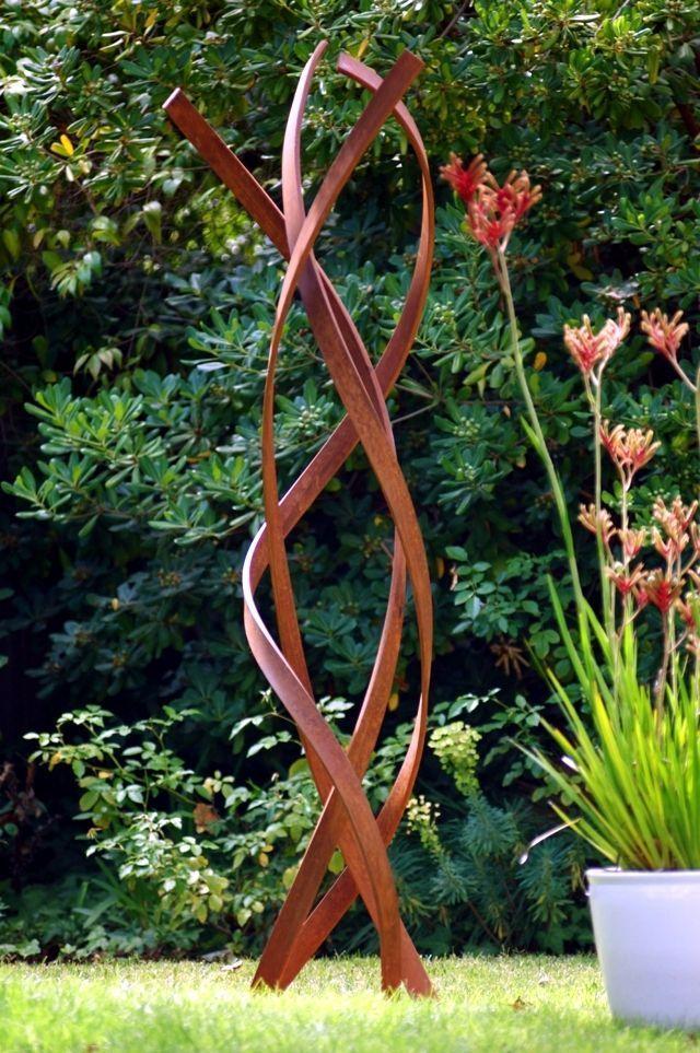 Metal Garden Decorations How Big Sculptures Work Gartendekoration Skulpturen Garten Moderne Skulptur