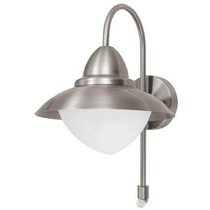 SIDNEY  Væglampe - Udendørs væglampe i rustfri stål med sensor.