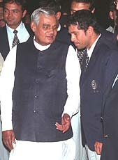 SRT with then PM Mr. Atal B Vajpayee.