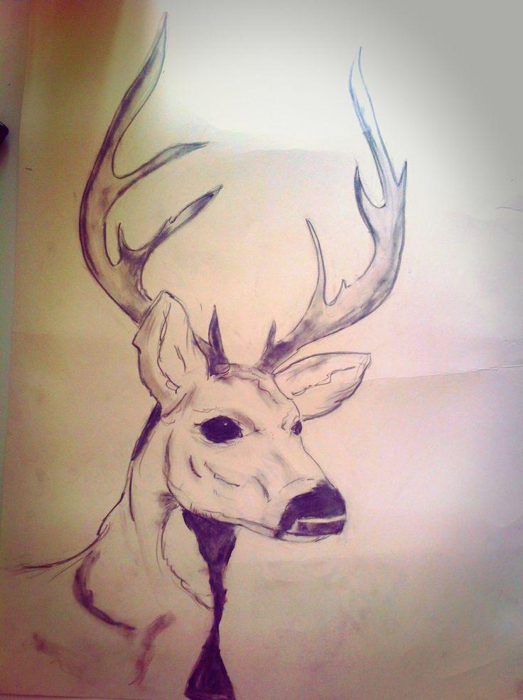 Work in progress. Fri hånd. A2 str. Tykt papir. Special blyanter.