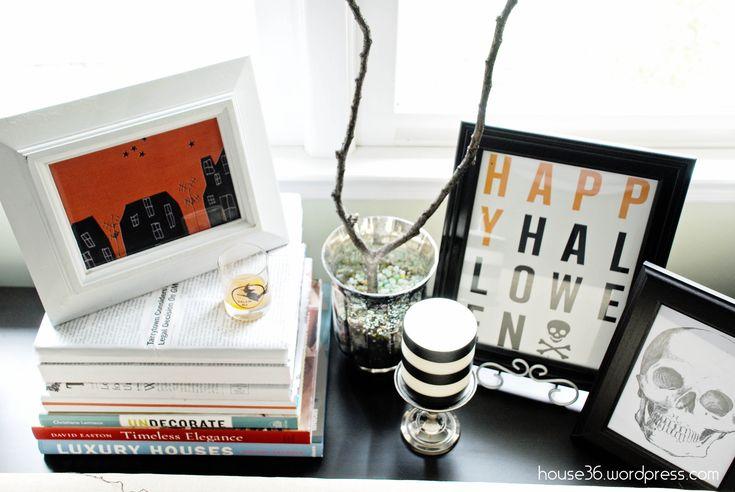 halloween decor {on a budget} - free halloween printables