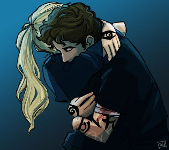 parabatai emma and julian// that's actually the first pic of jules that looks looks a bit like I imagined him...