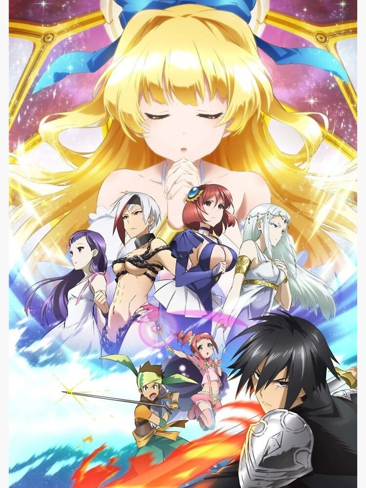 Cautious hero shinchou yuusha poster personnages d