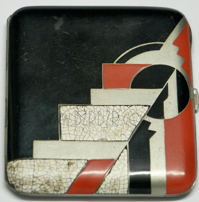 Art Deco Cigarette Box   Enamel Egg Shell, c. 1920s France