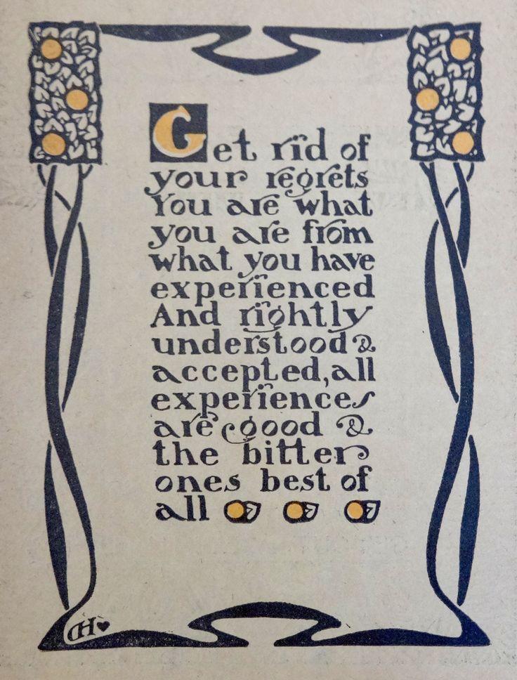 Dard Hunter Motto from 1905/1906 Roycroft Catalog