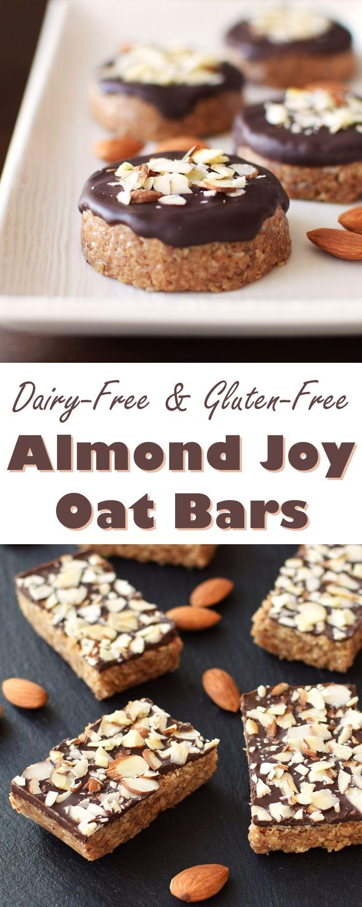 Almond Joy Oat Bars Recipe (Soft and Chewy) - no bake, dairy-free, gluten-free, vegan