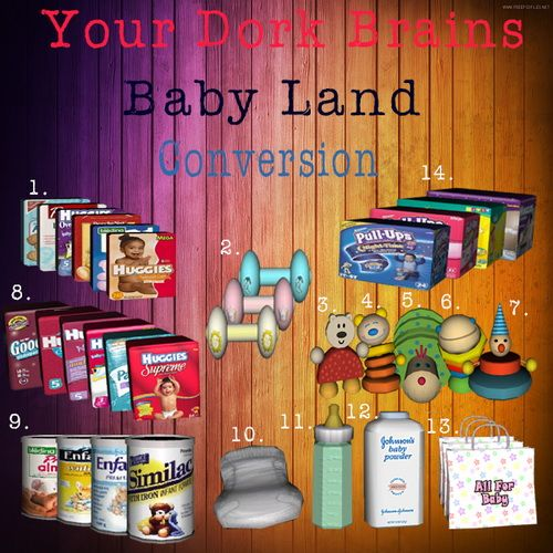 Baby Land Objects Conversion by Kiana - Sims 3 Downloads CC Caboodle