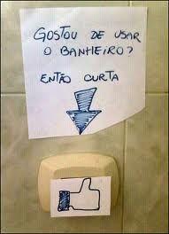 Gostou de usar o banheiro?