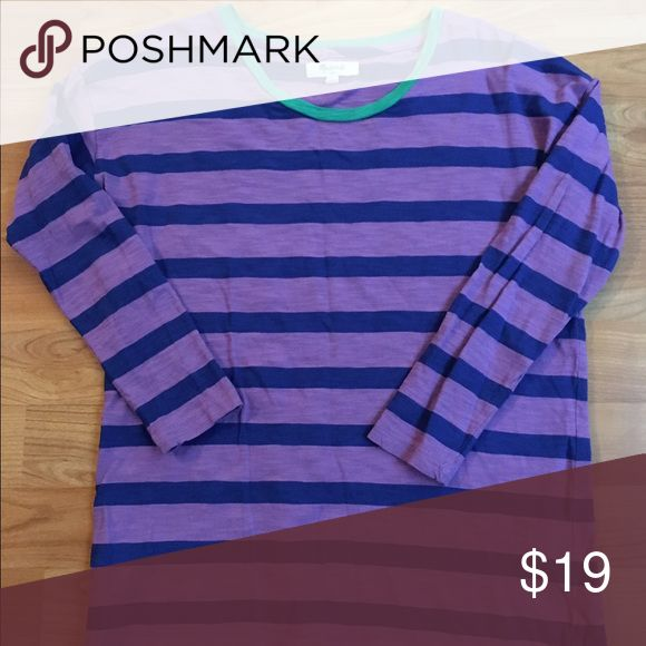 Madewell J Crew Purple Blue Stripe Women's Top XS This is a gorgeous Madewell striped top in size XS Madewell Tops Tees - Long Sleeve