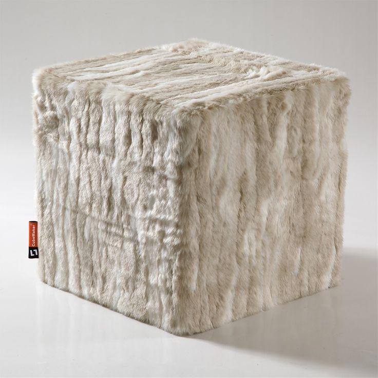 CubeMaker® - Chinchilla Designcube Sitzwürfel. #fell #fur #cube #furniture #möbel #design #chinchilla