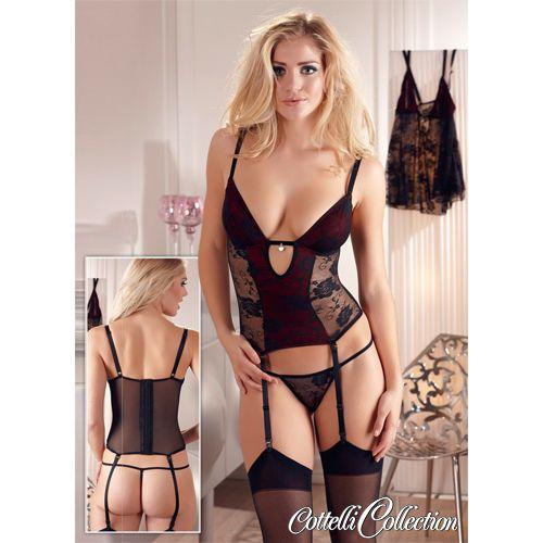 Sexy kanten jarretel topje met een diepe decolleté !  #jarretel #topje #kanten #decolleté #satijn #string #lingerie #nachtkleding #nachtmode #jarretels