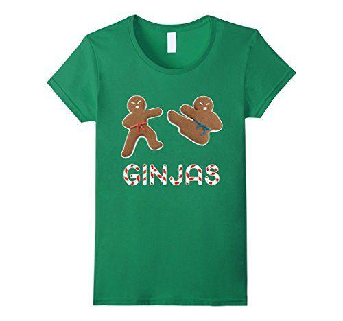 Gingerbread Christmas Holiday Ginjas gingerbread man gingerbread cookies gingerbread house women's fashion men's fashion funny Noel Xmas tshirt